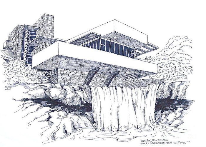 Frank Lloyd Wright Falling Water Architecture by Robert Birkenes