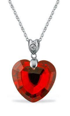 Swarovski Crystal Red Heart Pendant with Earrings Set  www.ebay.com/...