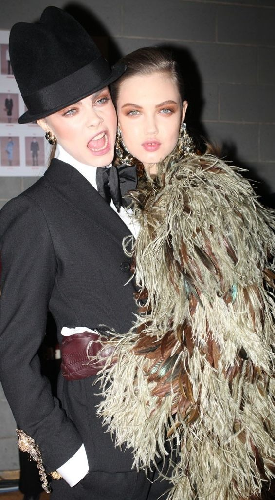 Backstage at Dsquared² RTW Fall 2013