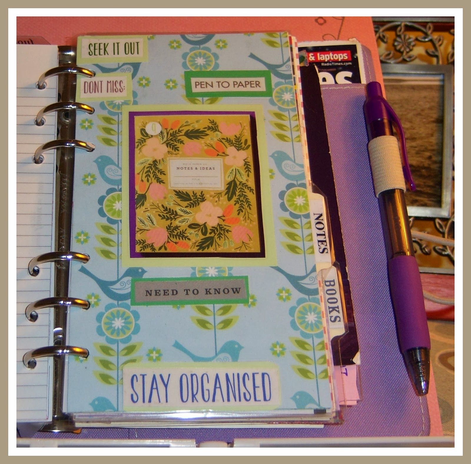Songbird divider another replacement filofax planners bullet