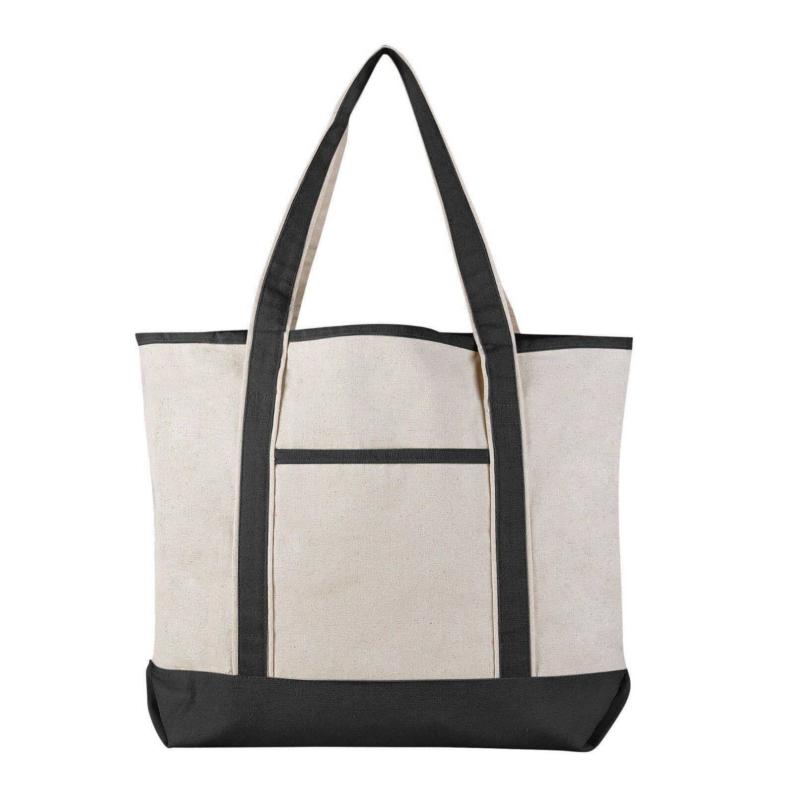 Extra Large Sturdy Canvas Tote Bag Canvas Bags for Crafts HTV Beach Work 1699