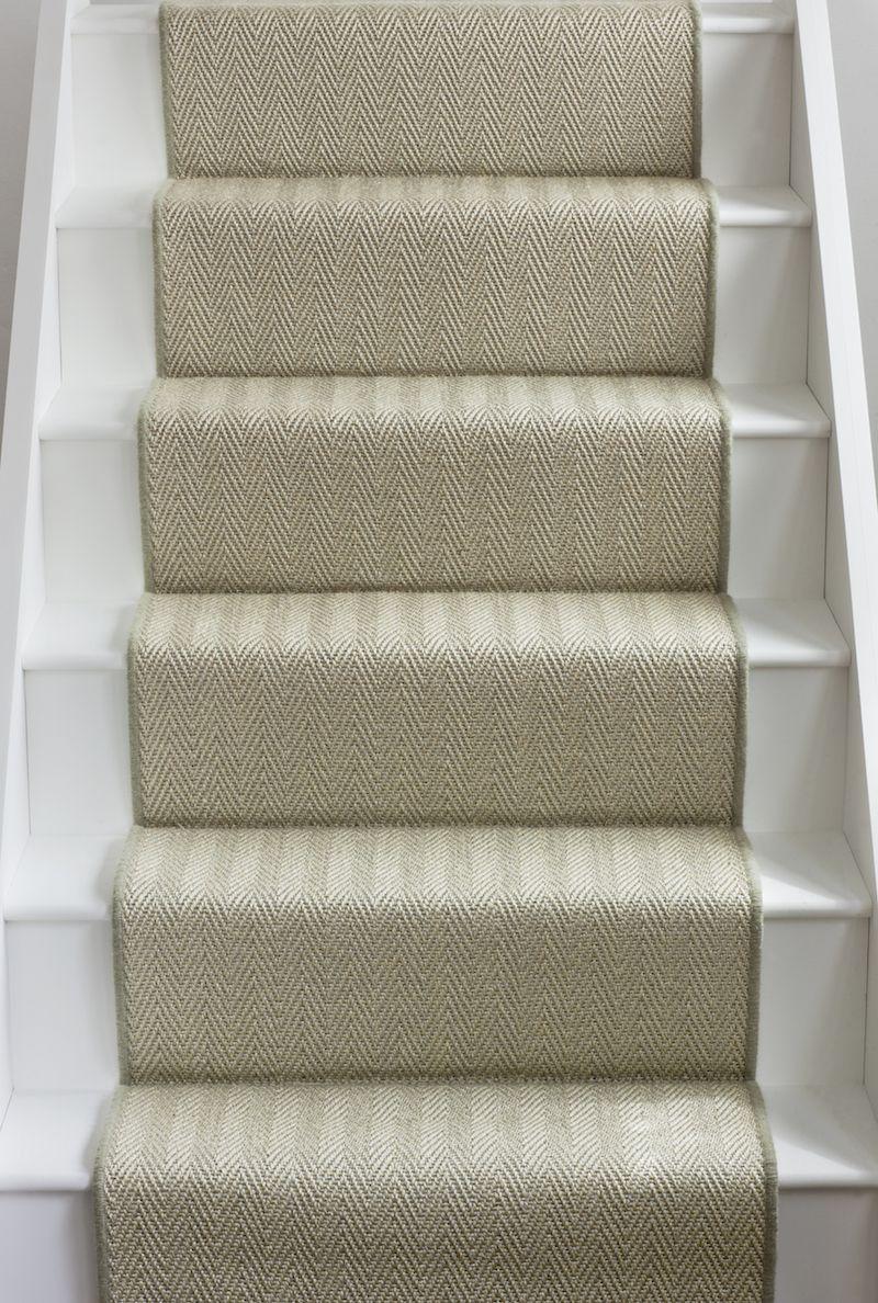 Alternative Flooring's Sisal Herringbone Hythe stair