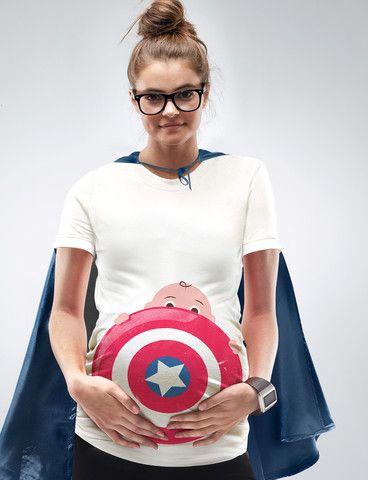 f761f0ba4f860 My Superhero Maternity Halloween T-Shirt | Baby | Pregnant halloween ...