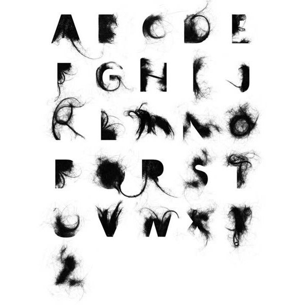 12 Alphabets made of Objects - Oddee.com ❤ liked on Polyvore featuring backgrounds, text and words