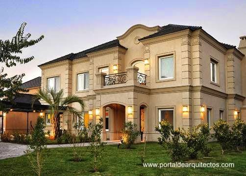 Casas estilo frances moderno buscar con google casas for Fachadas de casas estilo clasico