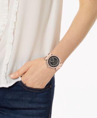 Access Women S Sofie Rose Gold Tone Stainless Steel Bracelet