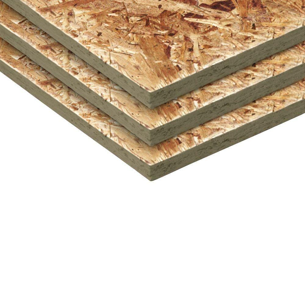 1 4 In X 4 Ft X 8 Ft Aspen Osb Sheathing Board 300985 The Home Depot Osb Sheathing Oriented Strand Board Strand Board
