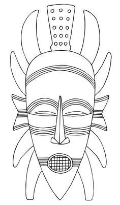 Chalkboard drawing ideas on pinterest 33 pins art illustration african mask template coloring for kids pronofoot35fo Gallery