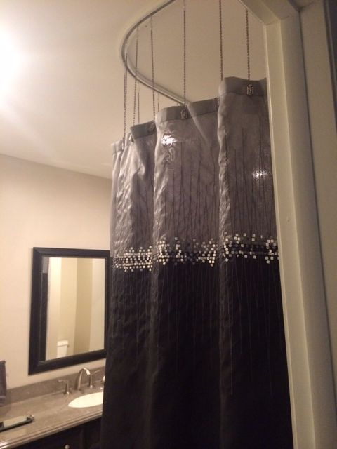 Shower Curtain Ideas Unique Suspended Shower Curtain Creates A