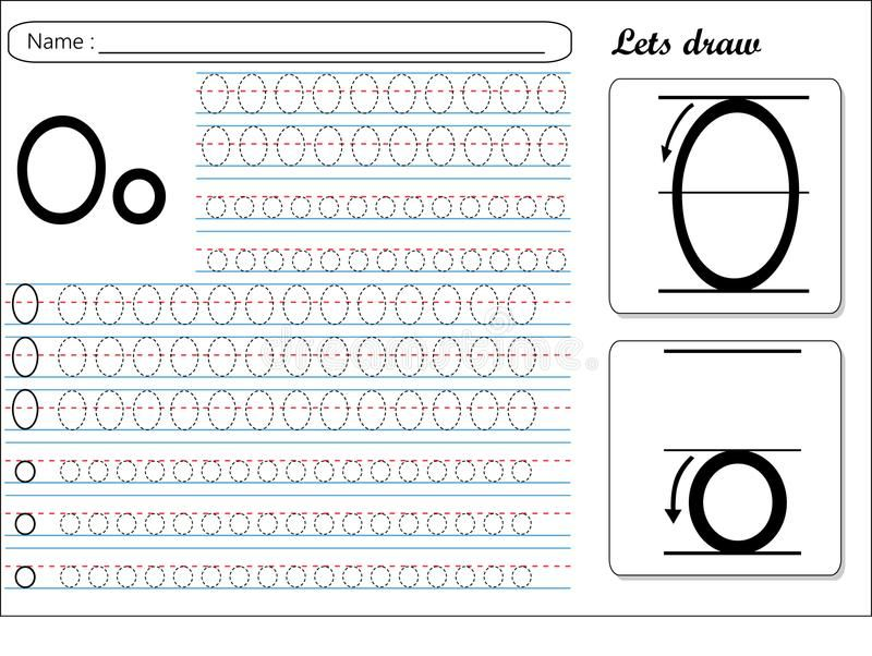 Tracing Worksheet Oo vector illustration Tracing