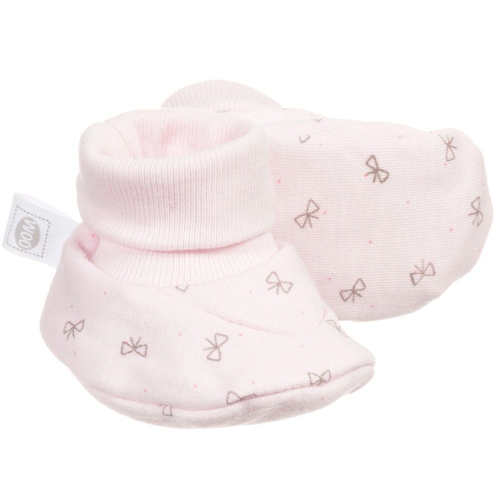 6be1433d7 ABSORBA Baby Girls Pink Organic Cotton Jersey Bootees | Absorba Baby ...