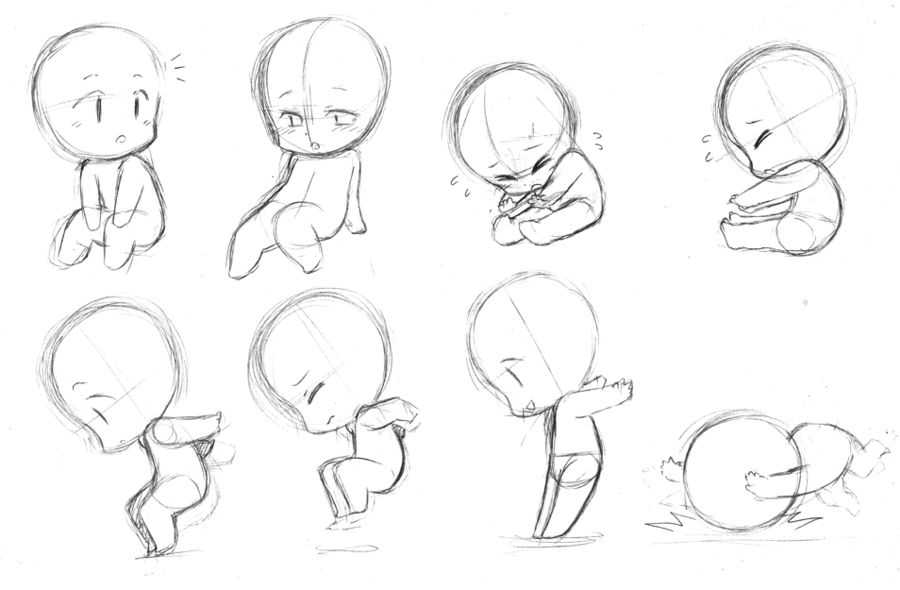 Chibi Body Positions Chibi Drawings Chibi Body Anime Drawings