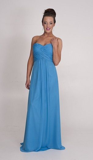 strapless blue wild violet gown   Ball Dresses Perth, Ball Gowns ...