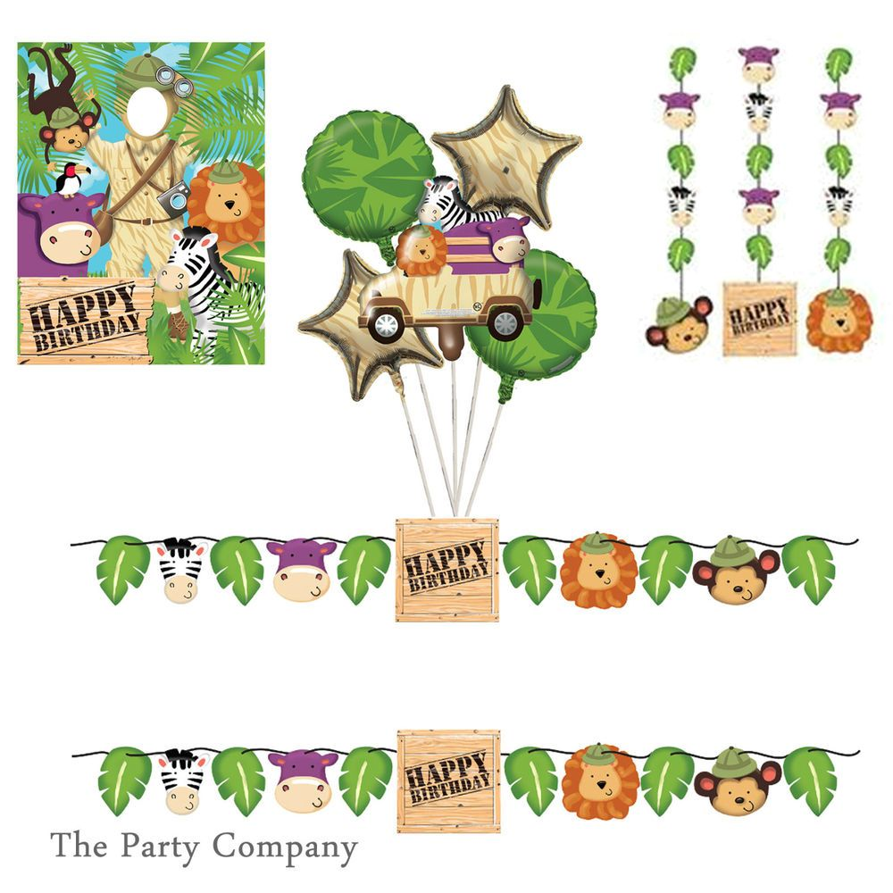 Jungle Boys Girls First Second 1st 2nd Birthday Party Decorations