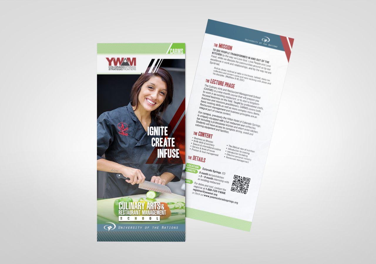 Kettle Fire Creative, YWAM, rack cards, Colorado, Strategic