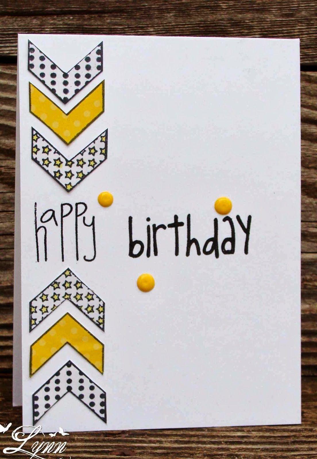 Creative Crafts By Lynn Birthday Card Drawing Birthday Card Design Birthday Cards For Boys