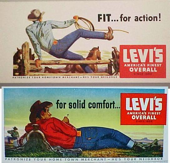 Vintage Levis Advertisement Posters | Vintage jeans ...