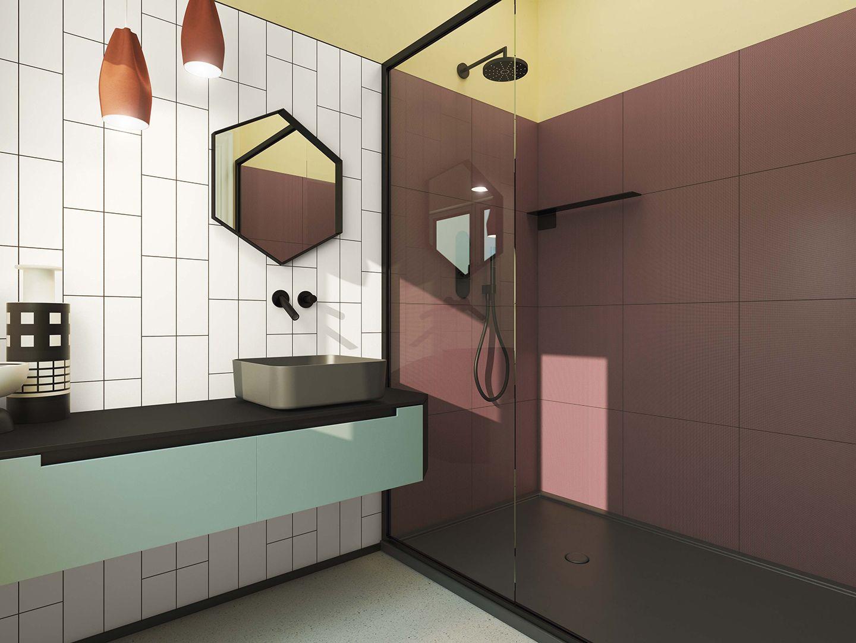 Ceramica vogue graph bathroom pinterest tiles for Piastrelle 25x25