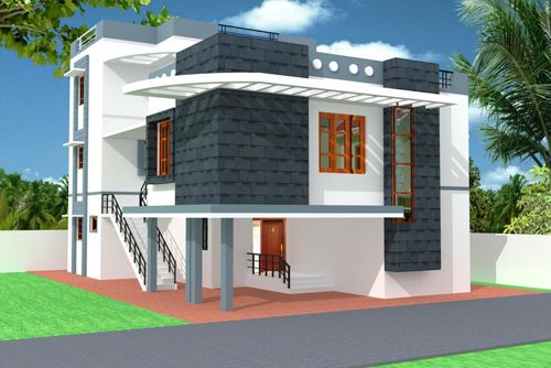 Modern parapet wall design ideas google search for Outer look of house design