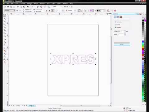 How to contour text in Corel Draw - YouTube