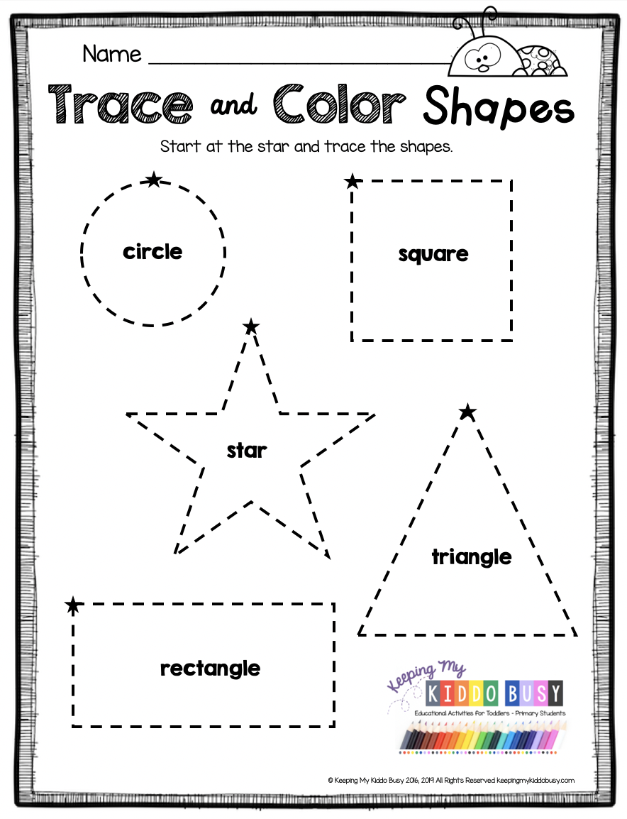 Freebie Kindergarten No Prep Back To School Pack Worksheets Fun Summer Activities In 2020 Shape Worksheets For Preschool Learning Worksheets Learning Shapes [ 1154 x 884 Pixel ]