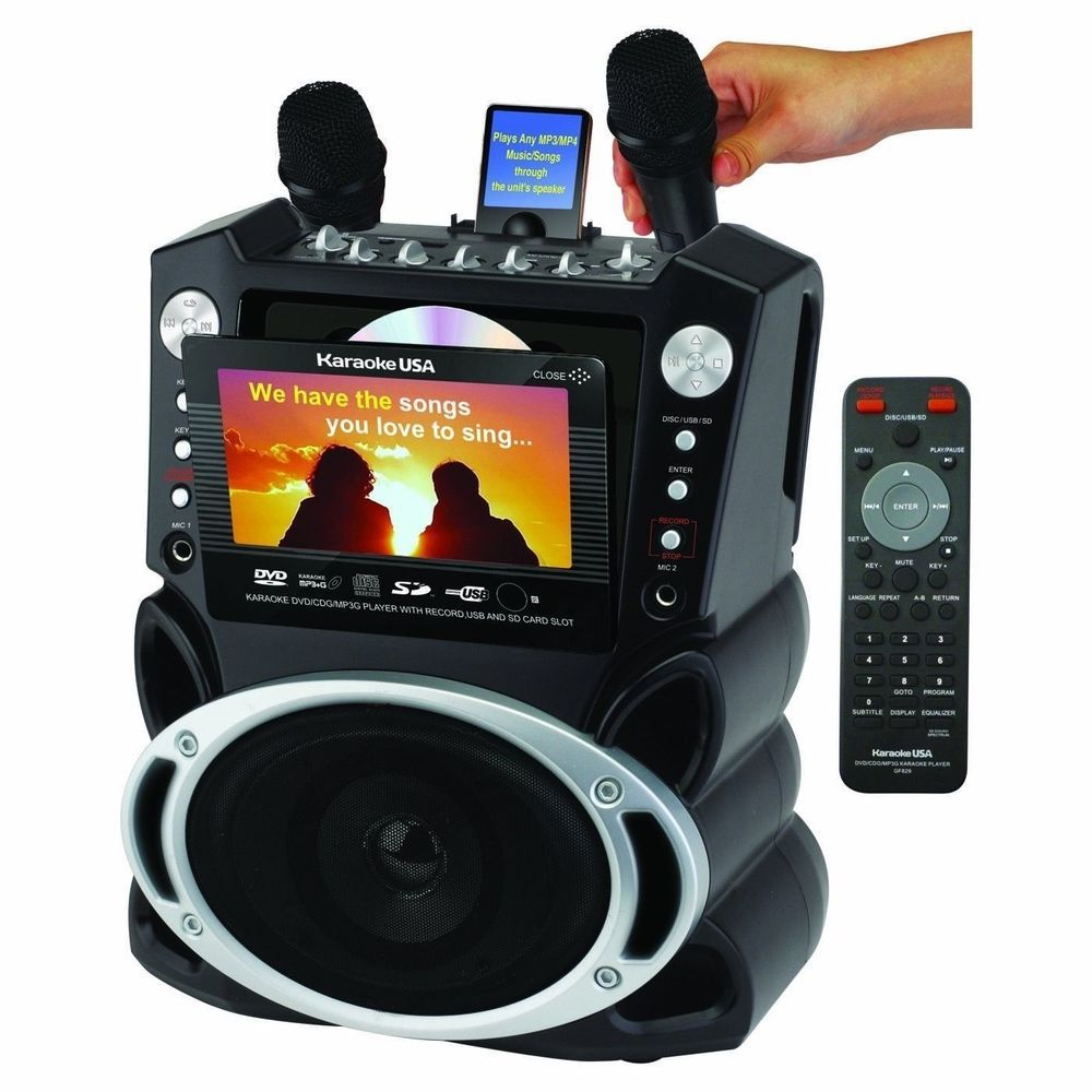 NEW Karaoke System 7 Inch Color Screen Record Function Singing Machine Party Fun