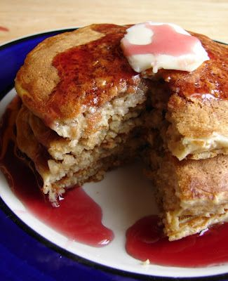 Oatmeal Peanut Butter Pancakes from Nummy Kitchen