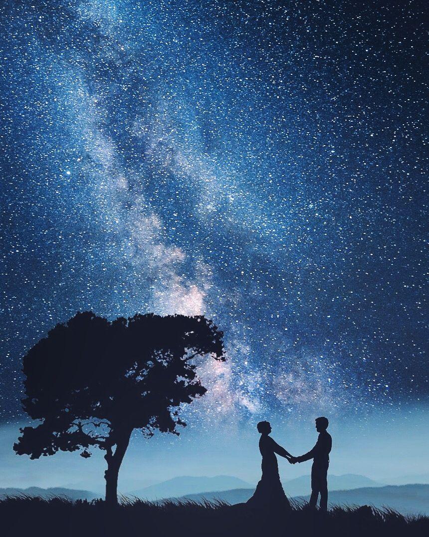 Картинки влюбленные под звездным небом