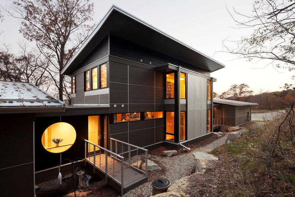 Casa Stile Moderno Esterni : Facciate ed esterni di case moderne dal design asiatico case da