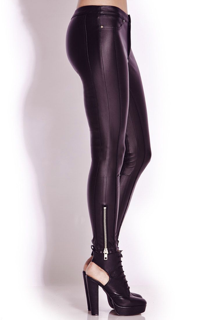 Tough Girl Faux Leather Skinny Pants  $22.80