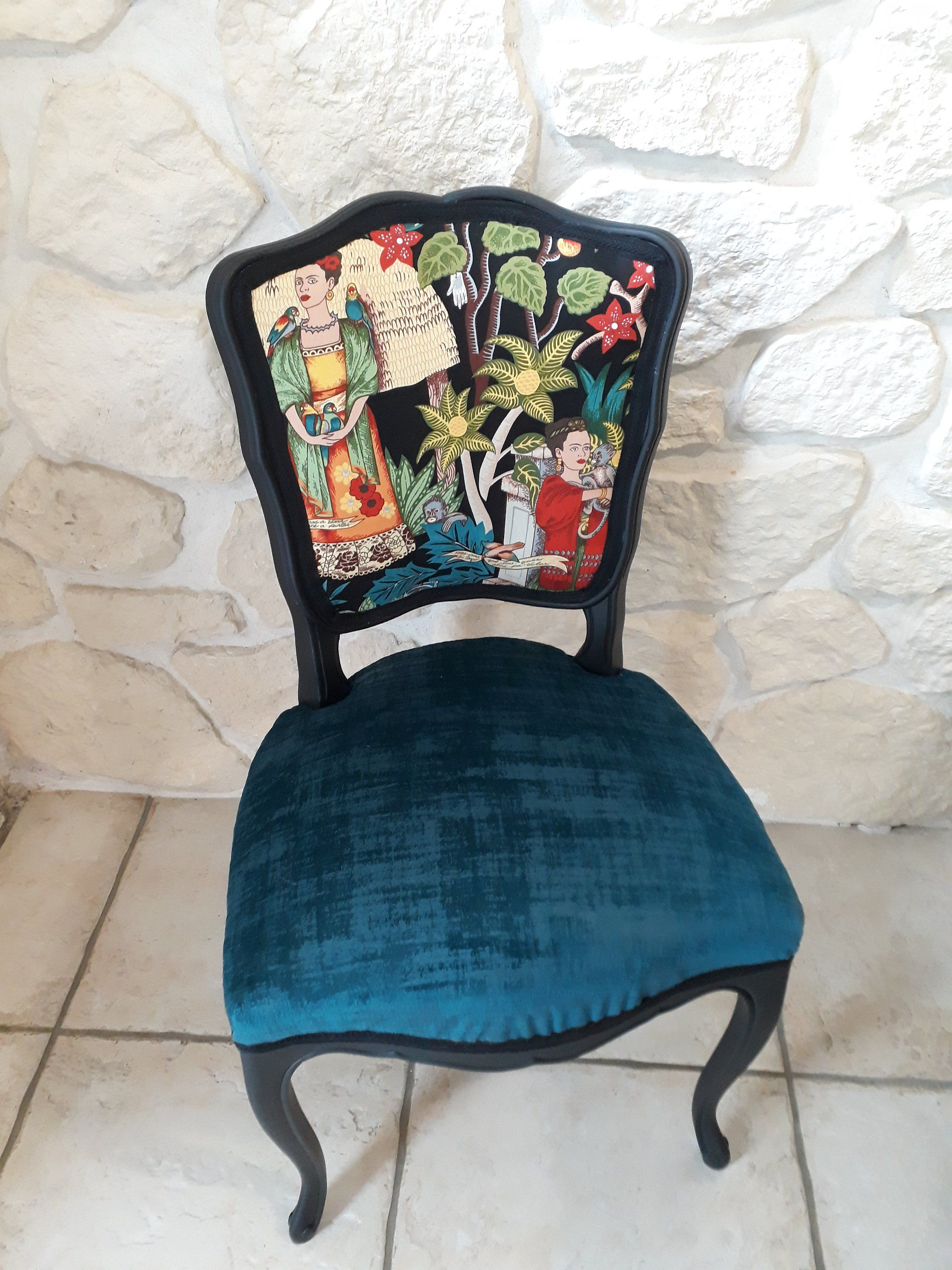 Gueridon Relooke Facon Boheme Chic Patine A L Ancienne Etsy Wingback Chair Dining Chairs Accent Chairs