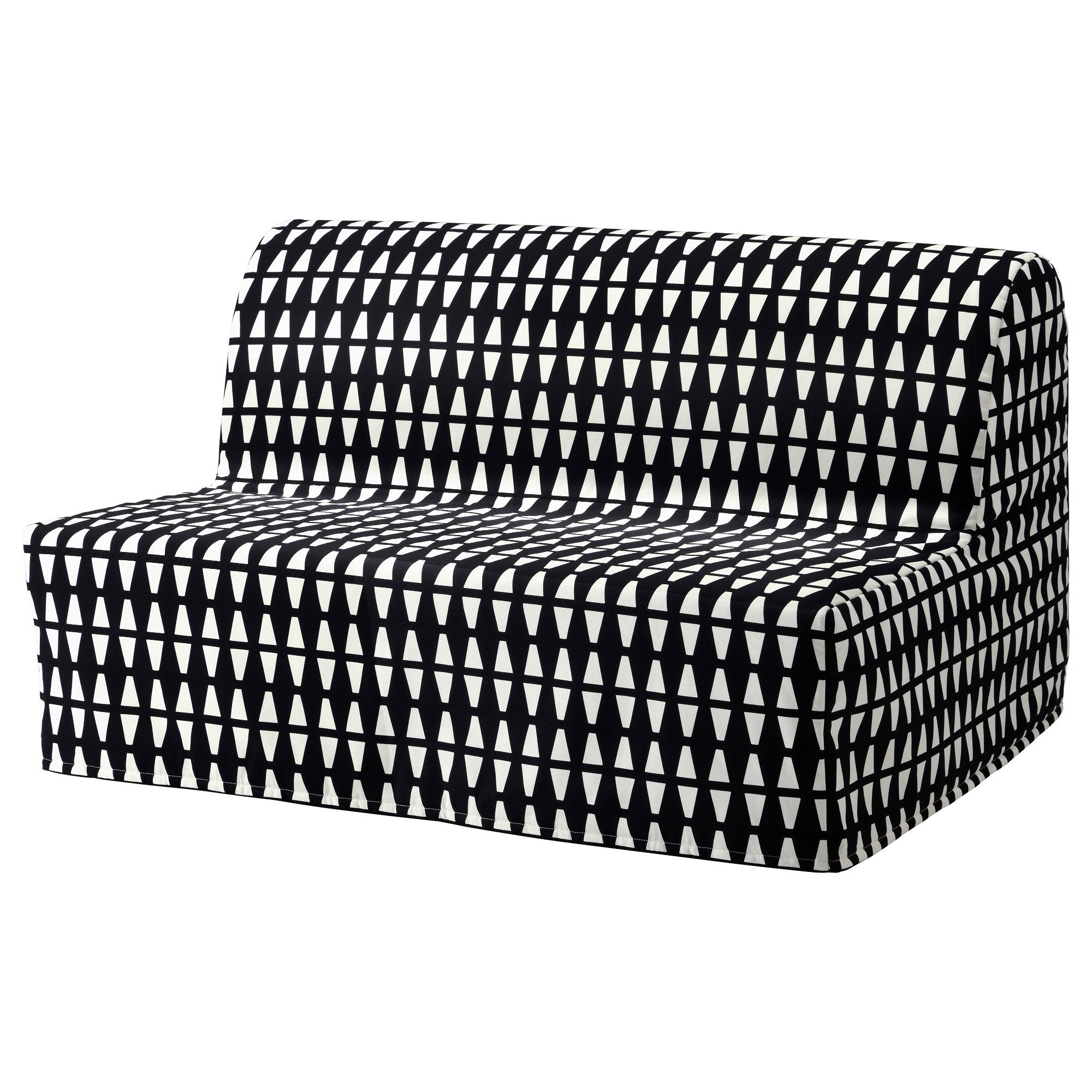 Ikea Lycksele LÖvÅs Sleeper Sofa Ebbarp Black White The Cover Is Easy To Keep Clean As It Removable And Can Be Machine Washed Made Of