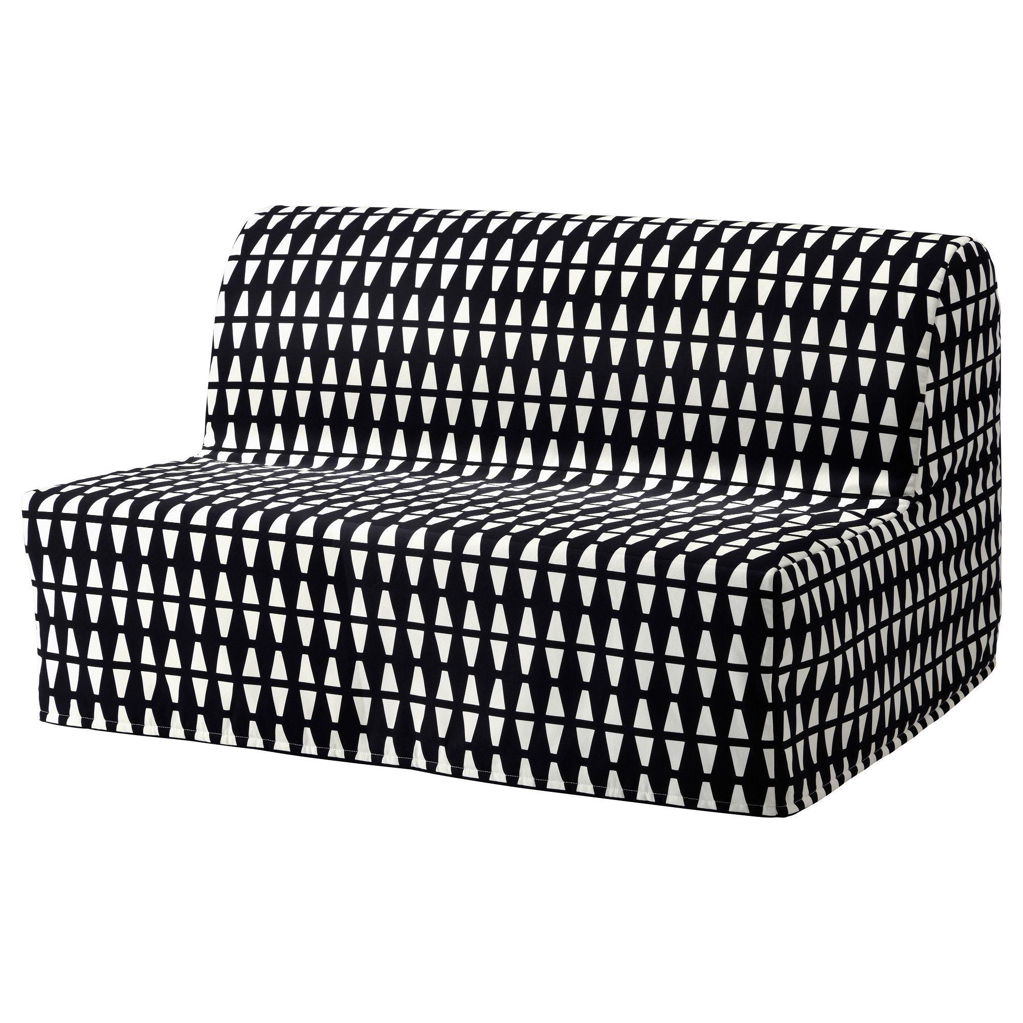 LYCKSELE LÖVÅS Sleeper sofa Ebbarp black/white