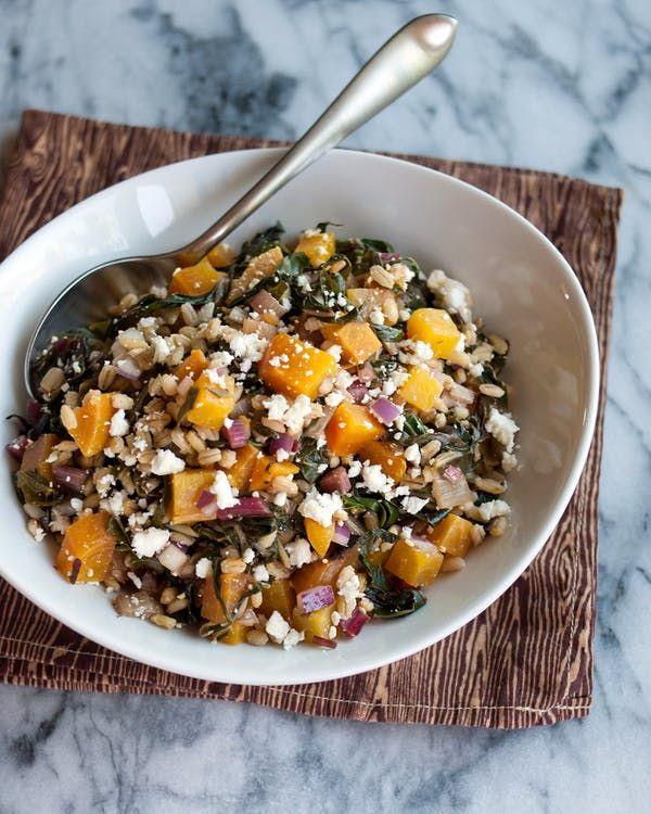 golden beet and barley salad with rainbow chard  recipe