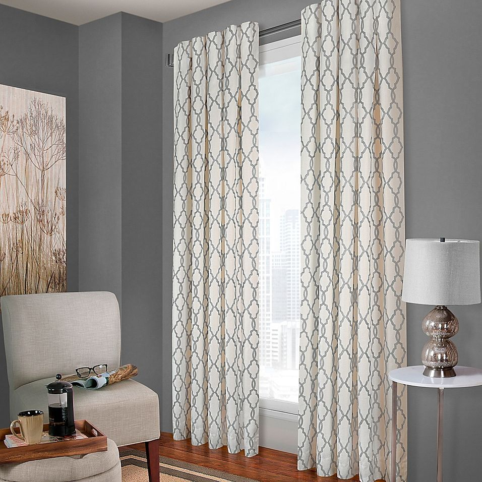 Designer S Select Claudia Geo 63 Back Tab Window Curtain Panel In