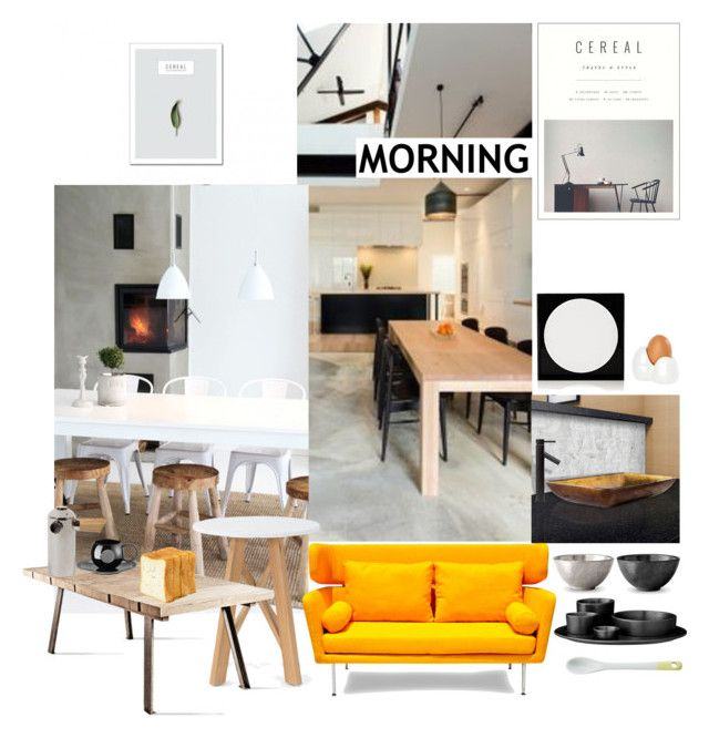 """Good Morning"" by sue-mes ❤ liked on Polyvore featuring interior, interiors, interior design, home, home decor, interior decorating, Vigo, Lisa Perry, Flamant and L'Objet"