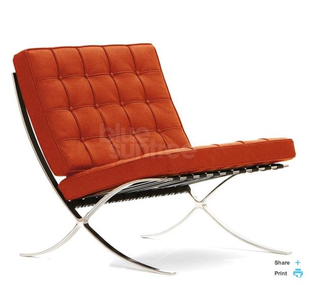 Orange Barcelona Chair Www Bluesuntree Co Uk