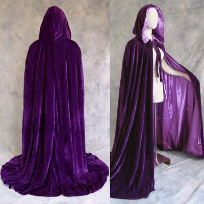 wear this as you ride up on your horse on your wedding day. that way the groom won't see you in your dress until you dismount and take off the cloak. Cool reveal too. And purple is perfect because purple is royal and you are a daughter of a King.