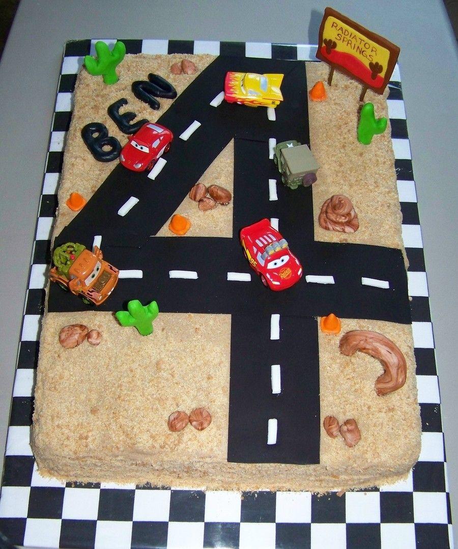 Cars 4th Birthday On Cake Central Joeys 4th Birthday Pinterest