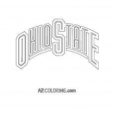 Ohio State Buckeyes Coloring Page #ohiostatebuckeyes