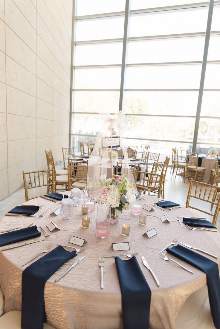 Modern Blush, Navy & Gold Elegant Downtown St. Pete Wedding ...