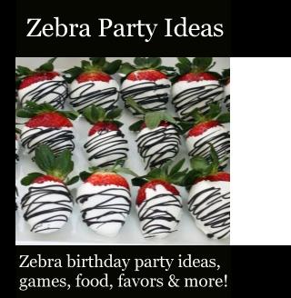 Zebra Party Foods on Pinterest  Zebra Birthday Decorations, Zebra ...