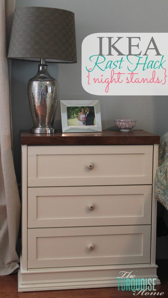 Amazing!!! Take a $35 IKEA Rast dresser and a little molding, paint and elbow grease and you'll have a pretty, customized night stand! IKEA Rast Hack Night Stands