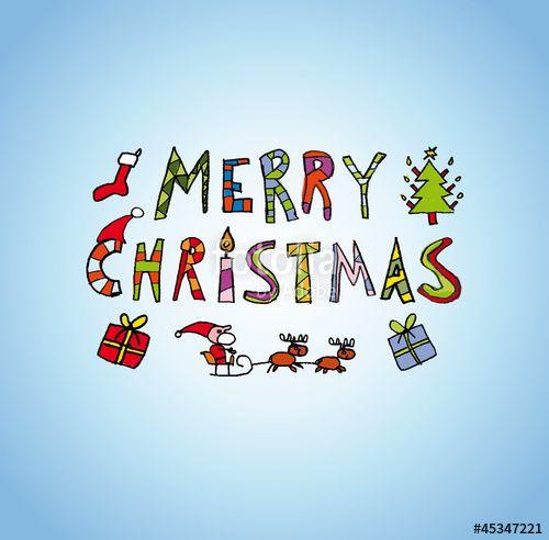 vektor merry christmas card kgs basar frohe weihnachten lustig kartentext weihnachten und