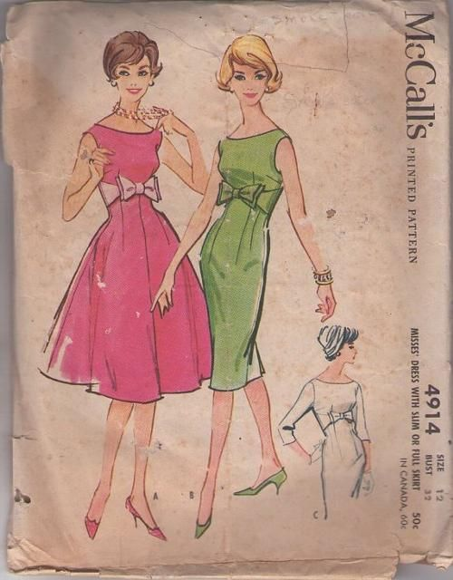 McCall's 4914 | Mccalls sewing patterns, Vintage sewing