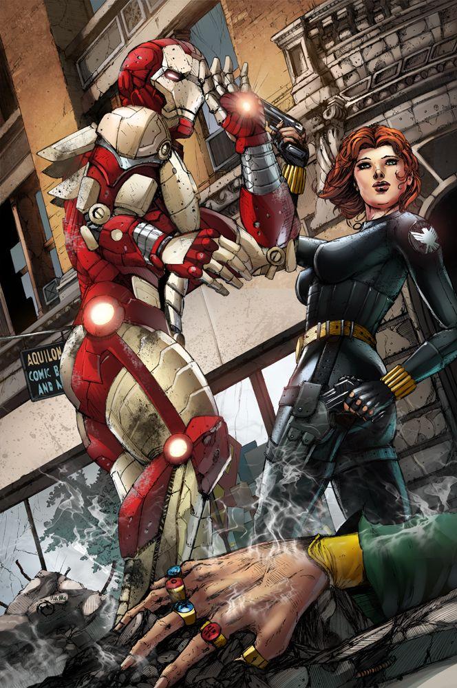 Fcbd Iron Man And Black Widow By Jwichmann Deviantart Com On