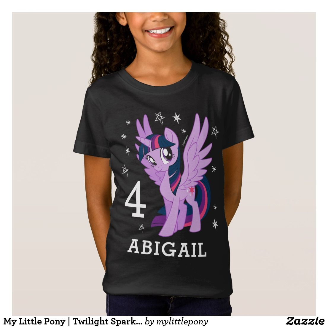 My Little Pony Personalised Children/'s T-Shirt Kids tshirt Including Name