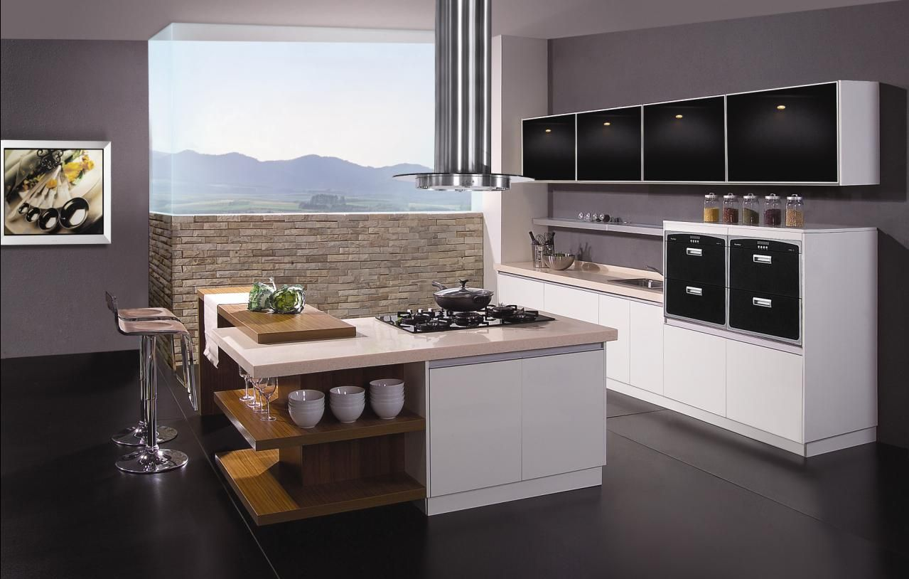 great kitchens | Inspirational Black Modular Kitchen listed in ...