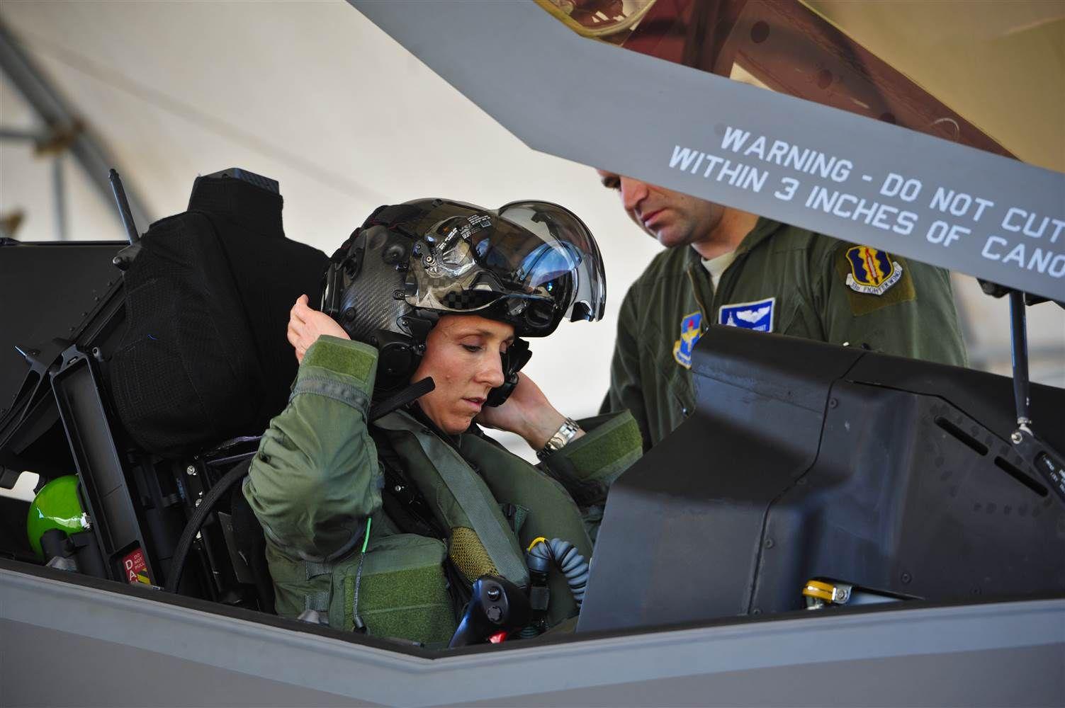 Christine Mau Becomes First U.S. Female Pilot to Fly F-35 Lightning II Jet.