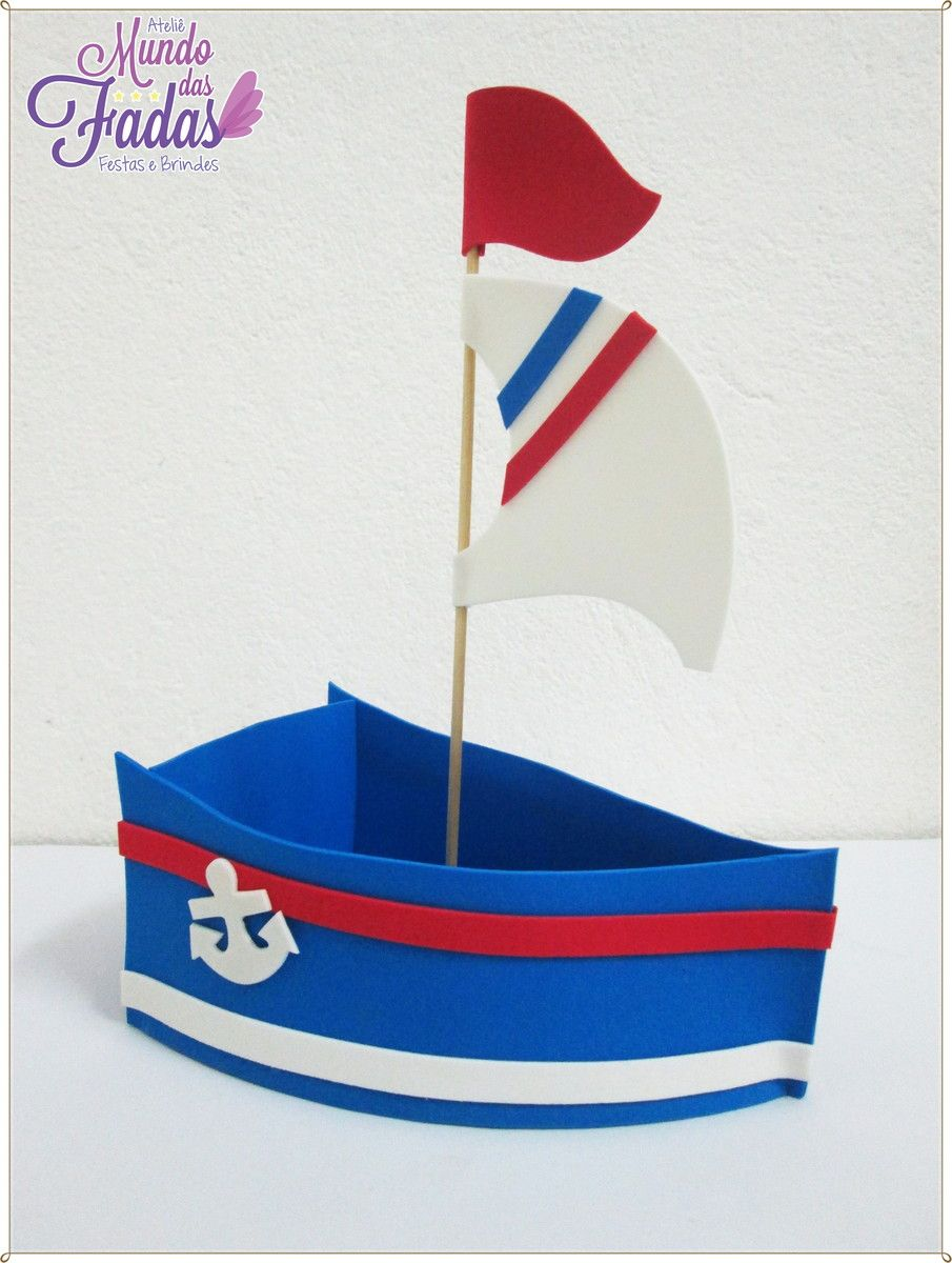 Barco Centro de mesa em EVA para aniversário, fazemos todos os ...